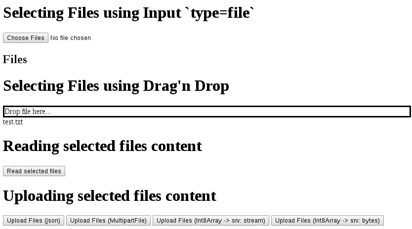 Using Files from web browser and AngularJS: Select, Drag'n Drop